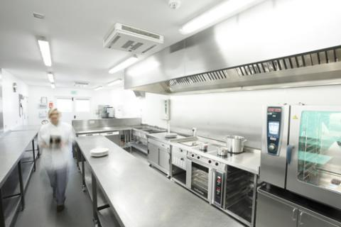 All catering equipment inside the modern catering kitchen available